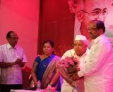 Jai Prakash Pandey, MLA Mrs. Manisha Chowdhury. Shri.Manmohan Gupta, MP Gopal Shetty at A grand celebration of Gandhi Jayanti by Gandhi Vichar Manch at Borivali (West), Mumbai
