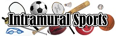 Intramurals in type and children playing clipart