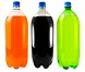 Three, 2 liter soda bottles